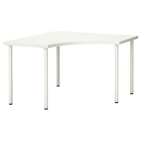Ikea Corner Desk Top Adils Linnmon Corner Table White 120x120 Cm Ikea