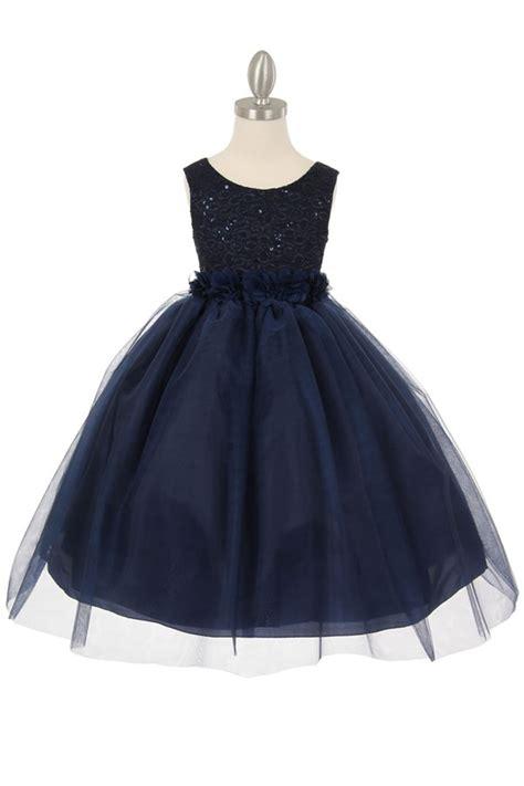 Kidz Dress Flower Brokat Navy navy blue flower dresses dress line