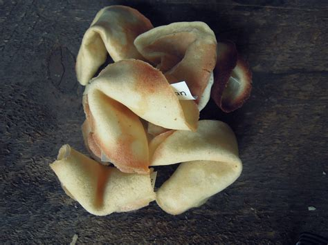Handmade Fortune Cookies - fortune cookies fork and beans