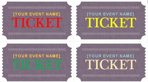 Generic Event Ticket Templates Formal Word Templates Prom Ticket Template Free