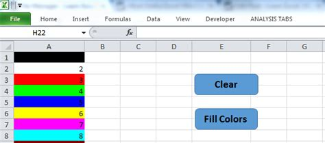 excel background color change background color of cell range in excel vba