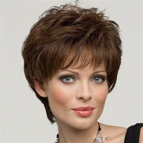 trendy hair styles for wigs classic short hairstyle full bang towheaded layered curly