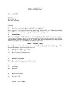 australia letter of intent template forms and