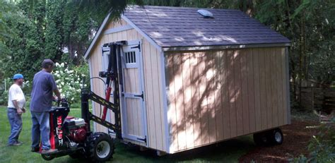 How To Move A Shed On Skids by Northwest Shed Movers Cabin Shed Gazebo And Barn Moving