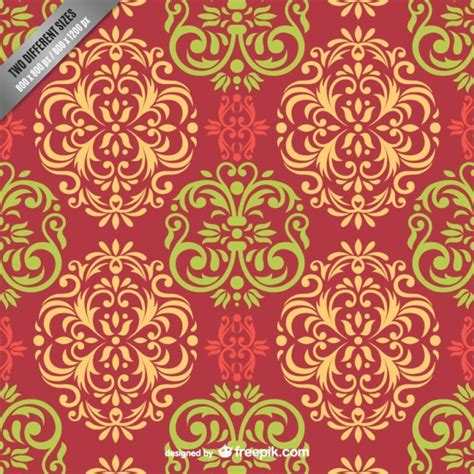 damask pattern freepik colorful damask pattern vector free download