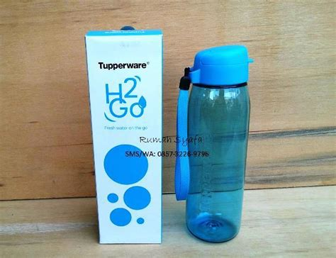 Tupperware Kaca h2go bottle tupperware rumah syafa