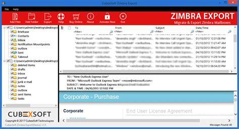 Zimbra Outlook Office 365 Zimbra To Outlook Converter Screenshot Windows 8 Downloads