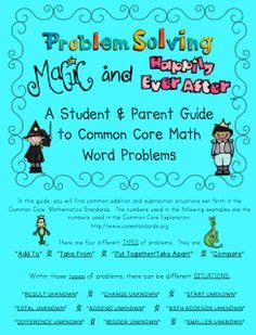 Parent Letter Common Math 1000 Images About Math Story Problems On Word