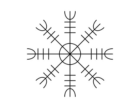 viking symbol tattoos aegishjalmur a norse symbol worn by warriors in battle