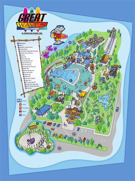map of us water parks great waves waterpark parks