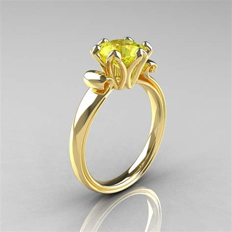 modern antique 14k yellow gold 1 5 carat yellow topaz