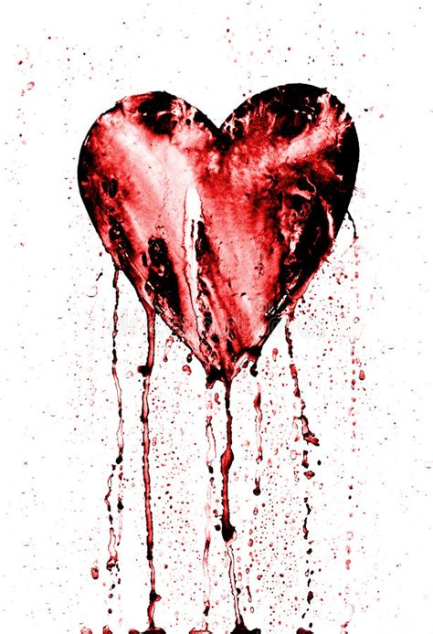 broken heart bleeding heart stock illustration