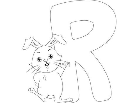 R For Rabbit Coloring Page by Free Printable Letter R Rabbit Coloring Pages For