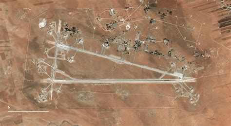 Bor Air Satelit mapping the targets of the american attack on syria the new york times