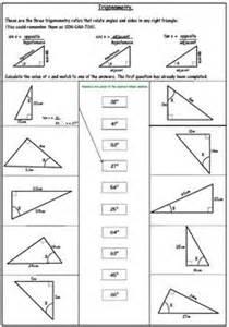 trigonometric ratios word problems worksheet pdf