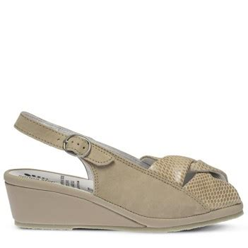 Wedges Ivone step yvonne wedge sandal beige nubuck