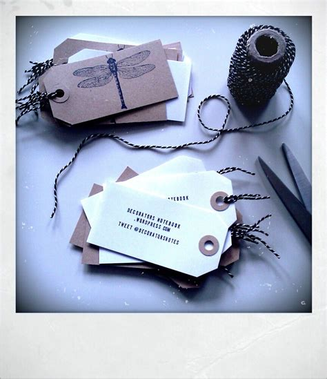 Handmade Cards Business From Home - diy luggage tag business cards decorator s notebook