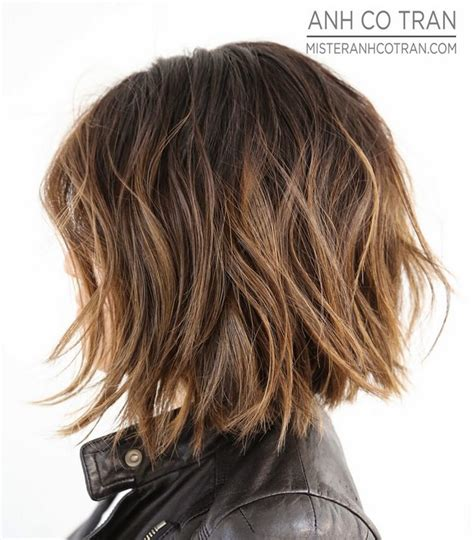haircuts for thick short hair 2015 for thick wavy hair as well shaggy bob hairstyles for