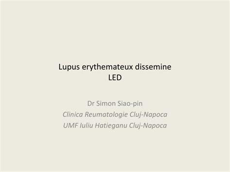 Ppt Lupus Erythemateux Dissemine Led Powerpoint Presentation Id 936153 Sle Business Presentation