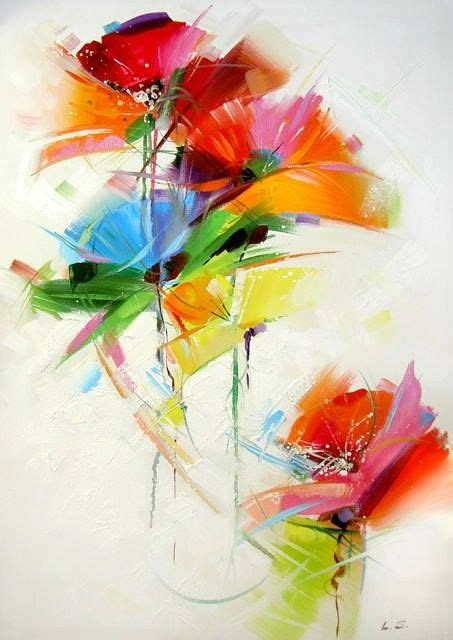 Abstract Flowers 25 best ideas about abstract flower paintings on