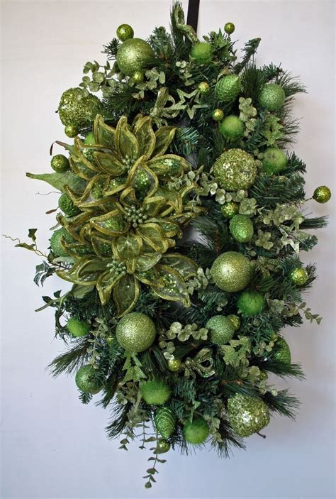 hand crafted oval christmas wreath  dyjo designs