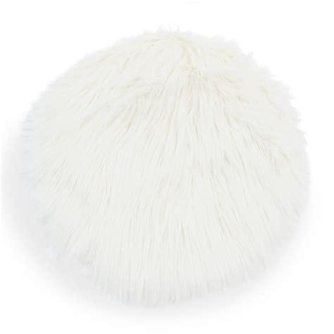 faux fur chair pads eskimo faux fur chair pad white d 38 cm maisons du monde