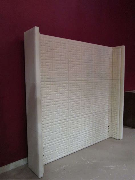tall leather headboards tall quilted leather queen headboard for sale at 1stdibs