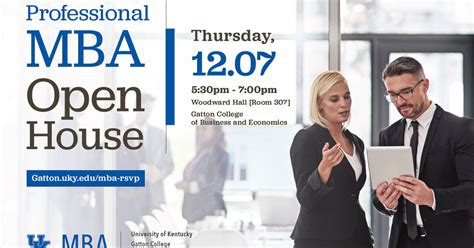 Wmu Mba Open House by Uk S Gatton College To Host Professional Mba Open House
