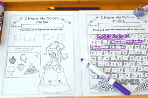the book the color purple has been deemed obscene in some communities i my colors printable work book series 9 page