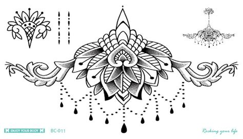 bc 011 latest mandala tattoo waterproof body fresh