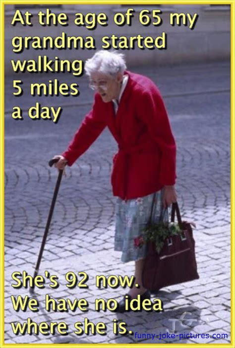 Old Age Meme - walking grandma missing meme the oddest box