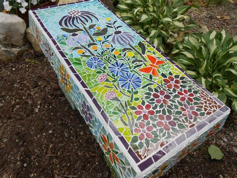 mosaic benches 142 best images about mosaic chairs benches and drawers
