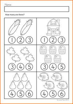 Free Fall Math Worksheets by Number Counting Worksheets Kindergarten Worksheets