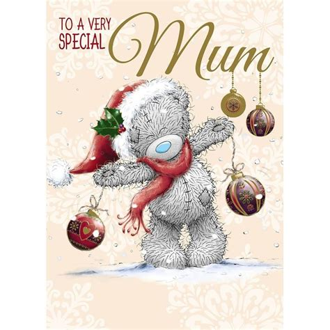 mum    bear christmas card tatty teddy printable christmas cards christmas cards