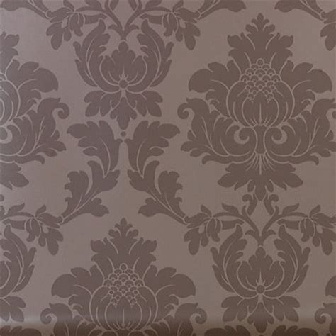 Classics Regency Damask Wallpaper   Taupe