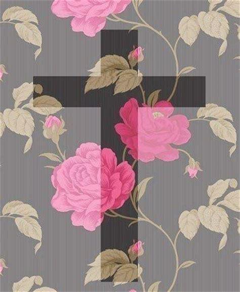 girly cross wallpaper floral cross wallpaper wallpapers pinterest cross