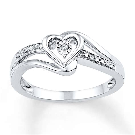 jared promise ring accents sterling silver