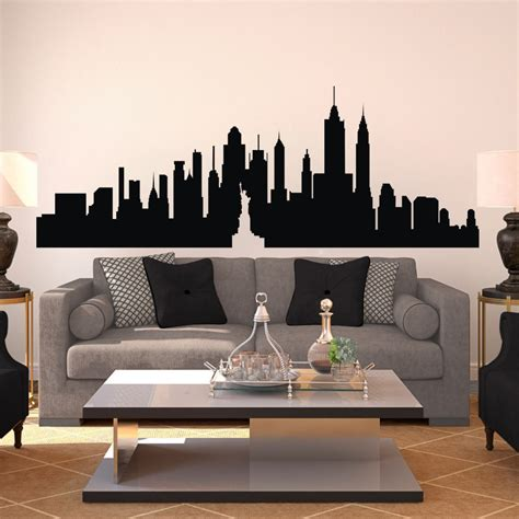 big w home decor new york city skyline silhouette the big apple wall