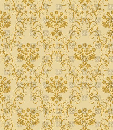 gold damask pattern damask seamless gold pattern royalty free vector clip art