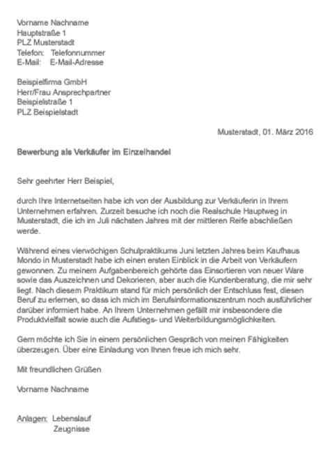 Anschreiben Bewerbung Ausbildung Zur Verkauferin 11 Bewerbung Als Verk 228 Ufer Rechnungsvorlage