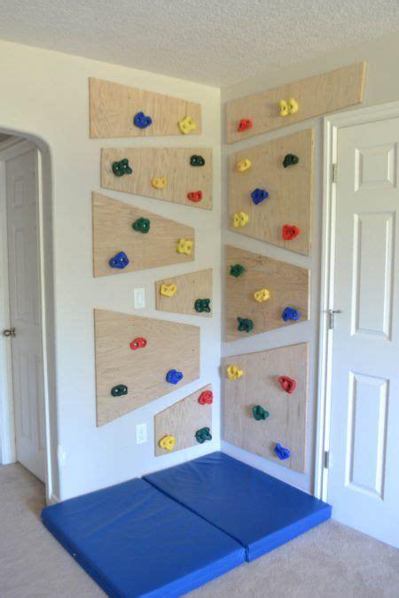 kinderzimmer ideen klettern kletterwand kinderzimmer diy indoor climbing wall