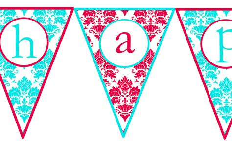 printable birthday banner printable happy birthday banner letters
