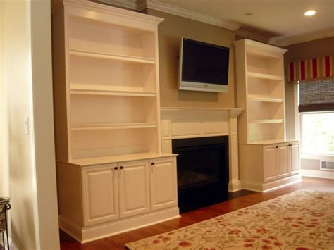 crafted traditional painted fireplace built ins by