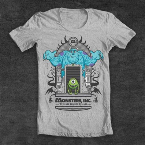 Handmade T Shirt Designs - daily monsters inc custom t shirt design by fernando