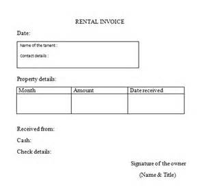 rent invoice template word rent invoice format sles templates for free