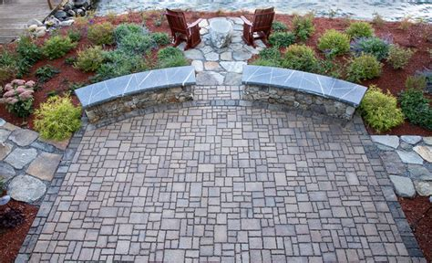 Permeable Patio Pavers by Permeable Paver Patio Gilford Nh Traditional Patio
