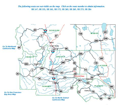 road map of northern california highway information area maps caltrans district two