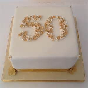 50 golden wedding anniversary cake