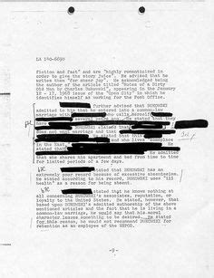 fbi electronic reading room 1000 images about dossier on bukowski criminal record and hannibal lecter