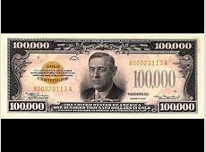 100000 dollar bill Series 1934 Gold certificates.mp4 - YouTube $100000 Bill